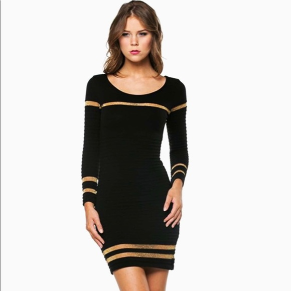 eb7426d144 NWT HERA COLLECTION Black Sweater Party Dress